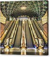 Triangeln Station Escalators Acrylic Print