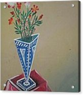 Triangle Flower Pot Acrylic Print