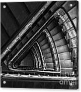 Triangle Staircaise In Bw Acrylic Print