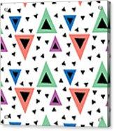 Triangular Dance Repeat Print Acrylic Print