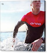 Triathlete And Two Time Iron Man Winner Acrylic Print