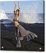 Tribal Belly Dancer Acrylic Print