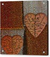 Tribal Hearts Acrylic Print