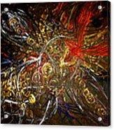 Tribal Phoenix Sword Acrylic Print by Pretchill Smith