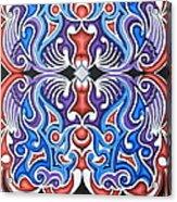 Tribal Symmetry 1 Acrylic Print