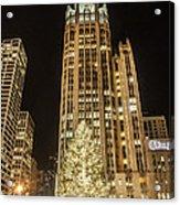 Tribune Plaza At Christmas Acrylic Print