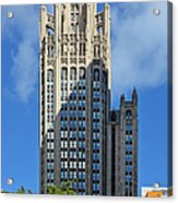 Tribune Tower Chicago - History Is Part Of The Building Acrylic Print