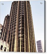 Tribune Tower Facade Acrylic Print