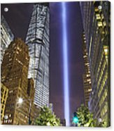 Tribute In Light And Freedom Tower Acrylic Print