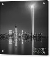 Tribute In Light Reflection Acrylic Print