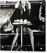 Tribute To Helmut Newton Acrylic Print