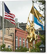New Orleans Tribute To Joan Of Arc Acrylic Print