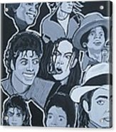 Tribute To Michael Jackson Acrylic Print by Gary Niles