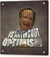 Tribute To Robin Williams Typography Acrylic Print