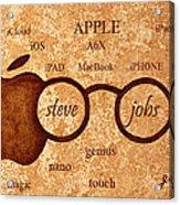 Tribute To Steve Jobs 2 Digital Art Acrylic Print