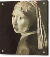 Tribute To Vermeer Homenaje A Jan Vermeer Acrylic Print by Fernando A Hernandez
