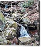 Trickle Of Water Acrylic Print