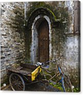 Tricycle Parked In Alleyway Acrylic Print