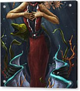 Tridacna - Red Acrylic Print