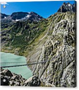 Triftsee Suspension Bridge - Gadmen - Switzerland Acrylic Print