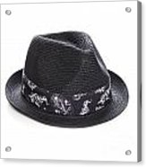 Trilby Hat Acrylic Print by Colin and Linda McKie