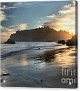 Trinidad Beach Reflections Acrylic Print