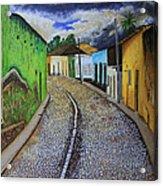 Trinidad Cuba Original Oil Painting 16x12in Acrylic Print