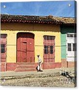 Trinidad Streets Cuba Acrylic Print