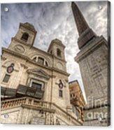 Trinita Dei Monti Church Acrylic Print