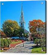 Trinity Church In Queen Anne Square In Newport Acrylic Print