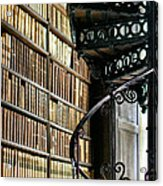 Trinity Collage Library Dublin Acrylic Print by Dick Wood