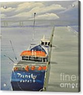 Trinity Long Line Fishing Trawler At San Remo  Acrylic Print