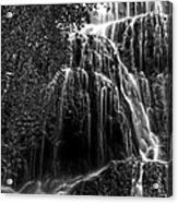 Trinity Waterfall In Monasterio De Piedra Park Bw Acrylic Print
