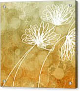 Trio Abstract Flower Art  Acrylic Print