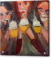 Trio In Cafe Acrylic Print