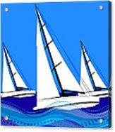 Trio Of Sailboats Acrylic Print