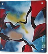 Triphids In Red Acrylic Print