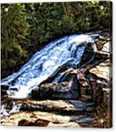 Triple Falls II Acrylic Print
