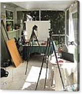 Tripods And Set Up Acrylic Print