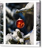 Triptych - Christmas Forest - Featured 3 Acrylic Print