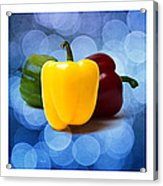 Triptych - Pepper Traffic Lights 2 Acrylic Print