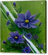 Floral Triptych 1 Acrylic Print