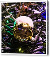 Triptych - Traffic Lights Christmas - Featured 2 Acrylic Print