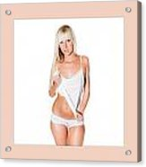 Triptychon Beautiful Nude Blonde 2 Acrylic Print