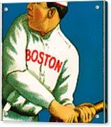 Tris Speaker Boston Red Sox Baseball Card 0520 Acrylic Print