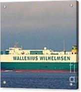 Tristan Cargo Ship - Puget Sound Seattle Washington  Acrylic Print
