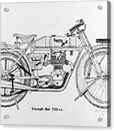 Triumph-bat 750c.c. Acrylic Print