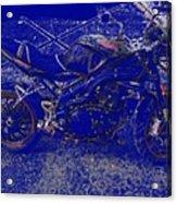 Triumph In Blue Acrylic Print