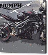 Triumph Motorcycle Acrylic Print