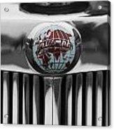 Triumph Roadster Emblem Selective Color Acrylic Print